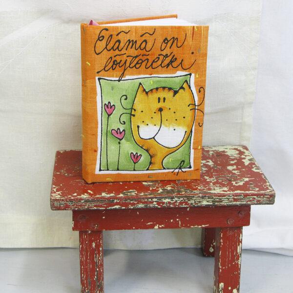 Kirja oranssi kissa